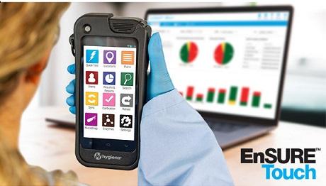 Провера чишћења и хигијене током пандемије COVID-19. За само 10 секунди EnSure Touch показује је ли површина ефикасно очишћена